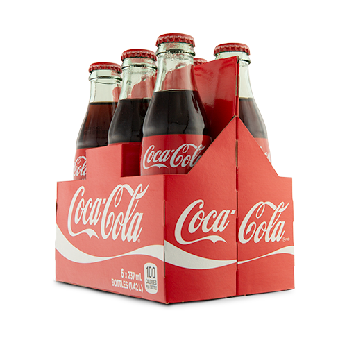 Coca-Cola 6 Pack Glass Bottle