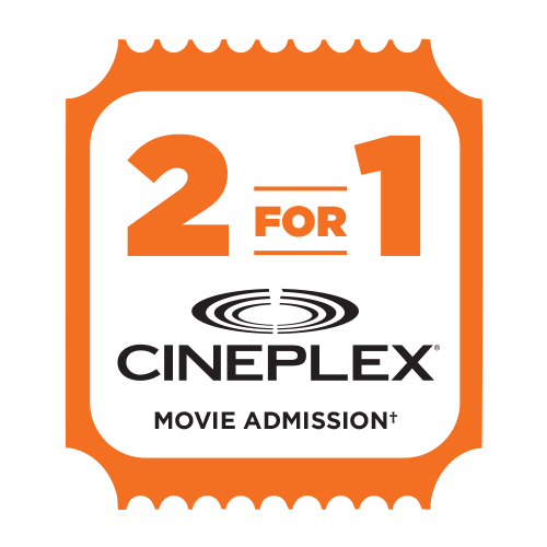 2 for 1 Movie Admission