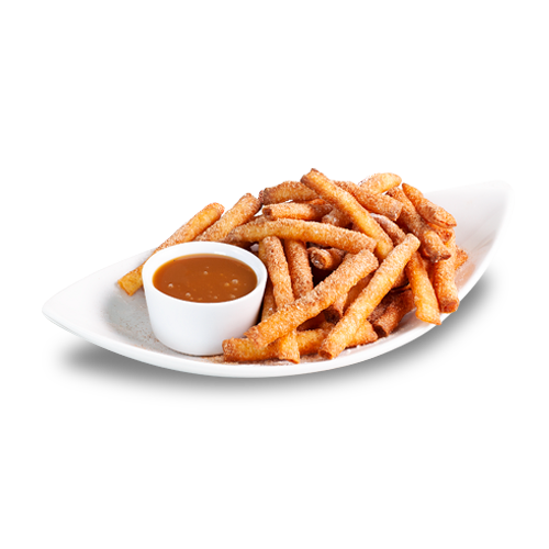 Funnel Cake Stix with Caramel
