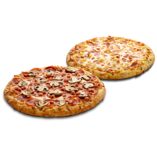 Twin Pizzas