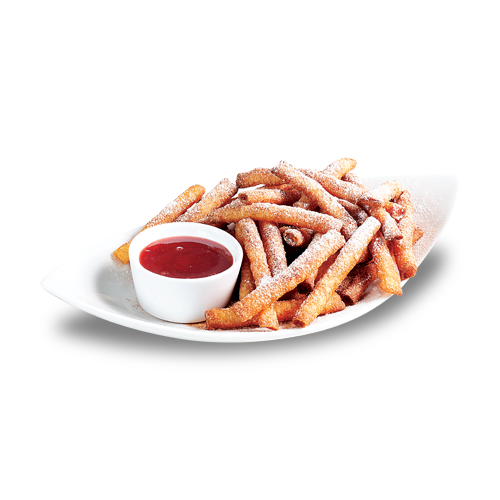 Funnel Cake Stix with Strawberry