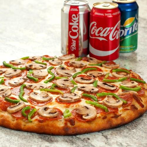 GRANDE PIZZA + 3 BOISSONS