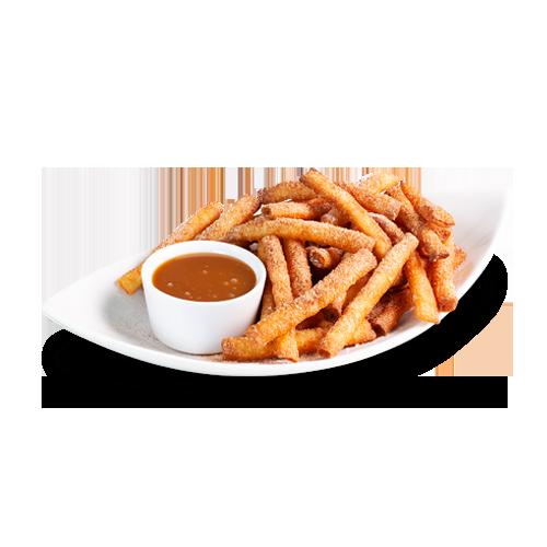 Beignets-frites a la cannelle