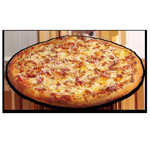 Pizza crémeuse à l'ail