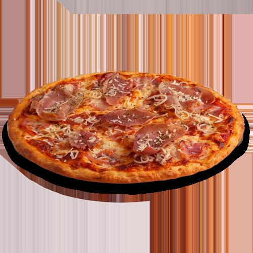 Pizza gourmet mince à la charcuterie