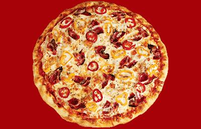 Tres grande pizza a 2 garnitures