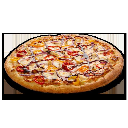 Pizza au poulet epice