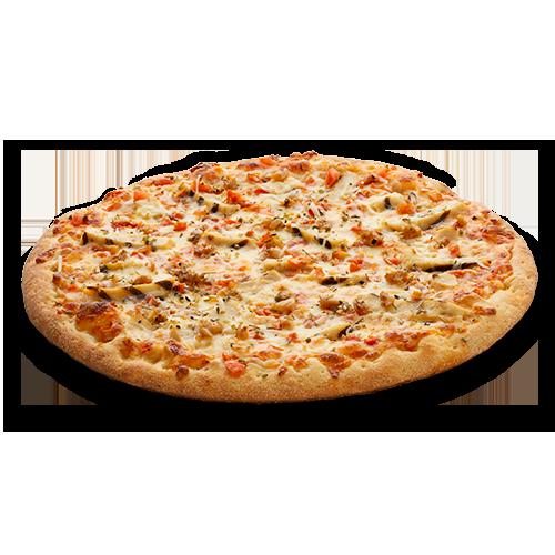 Pizza au poulet bruschetta